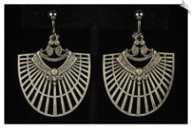 Clip Earrings - Art Deco (SKU: SOL6625)