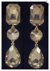 Clip Earrings - Glamour (SKU: SOL6788)