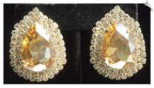 Clip On Earrings - Rhinestone Glamour (SKU: SOL4992)