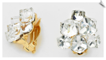 Clip Earrings - Glamour (SKU: SOL5995)