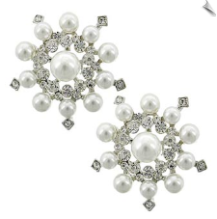 Clip Earrings - Glamour (SKU: SOL6086)