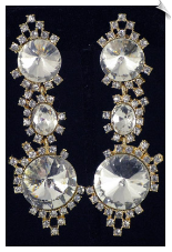 Clip On Earrings - Rhinestone Glamour (SKU: SOL4631)