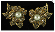 Clip On Earrings - Rhinestone Glamour (SKU: SOL4632)