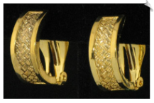 Clip On Earrings- Hoops- Gold (SKU: SOL3594)
