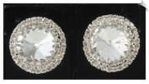 Clip On Earrings - Rhinestone Glamour (SKU: SOL3896)