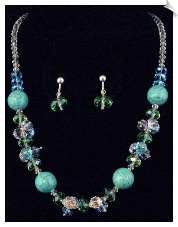 Necklace Sets-Blue (SKU: SOL3047)