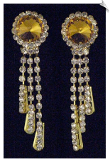 Clip On Earrings- Rhinestone Glamour (SKU: SOL3170)