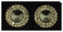 Clip On Earrings- Rhinestone Glamour (SKU: SOL3174)