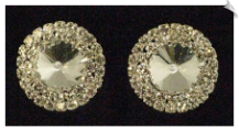 Clip On Earrings- Rhinestone Glamour (SKU: SOL3177)