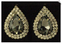 Clip On Earrings-Rhinestone Glamor (SKU: SOL3334)