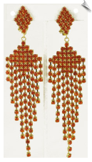 Clip On Earrings - Rhinestone Glamour (SKU: SOL4208)