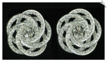 Clip On Earrings - Rhinestone Glamour (SKU: SOL4388)