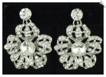 Clip On Earrings - Rhinestone Glamour (SKU: SOL4634)