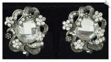 Clip On Earrings - Rhinestone Glamour (SKU: SOL4635)