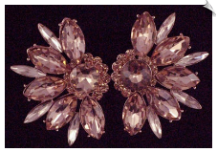 Clip On Earrings - Rhinestone Glamour (SKU: SOL5018)