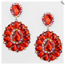 Clip Earrings - Glamour (SKU: SOL5709)