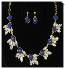Necklace Set - Blue (SKU: SOL6180)