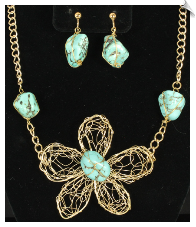 Necklace & Clip Earring Sets- FASHION (SKU: SOL6326)