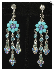 Clip Earrings - Chandelier (SKU: SOL6605)