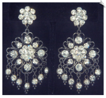 Clip Earrings - Chandelier (SKU: SOL6784)