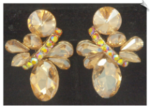 Clip Earrings - Glamour (SKU: SOL6836)