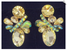 Clip Earrings - Glamour (SKU: SOL6837)