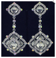 Clip On Earrings - Rhinestone Glamour (SKU: SOL4579)