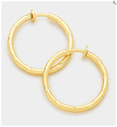 Clip Earring Hoops- GOLD
