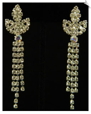 Clip on Earrings- Rhinestone Glamour (SKU: SOL3786)