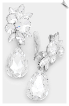 CRYSTAL - Clip Earrings (SKU: SOL7629)
