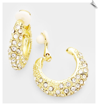 Clip Earring Hoops- GOLD (SKU: SOL7345)