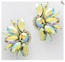 Clip Earrings -Crystal (SKU: SOLGD5954)