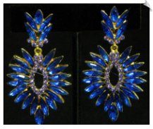 Clip On Earrings - Rhinestone Glamour (SKU: SOL4430)