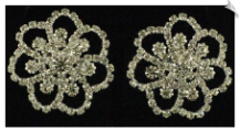 Clip on Earrings -  Rhinestone Glamour (SKU: SOL4605)