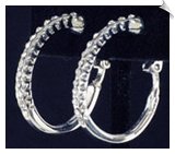 Clip On Earrings- Hoops- Silver (SKU: SOL3655)